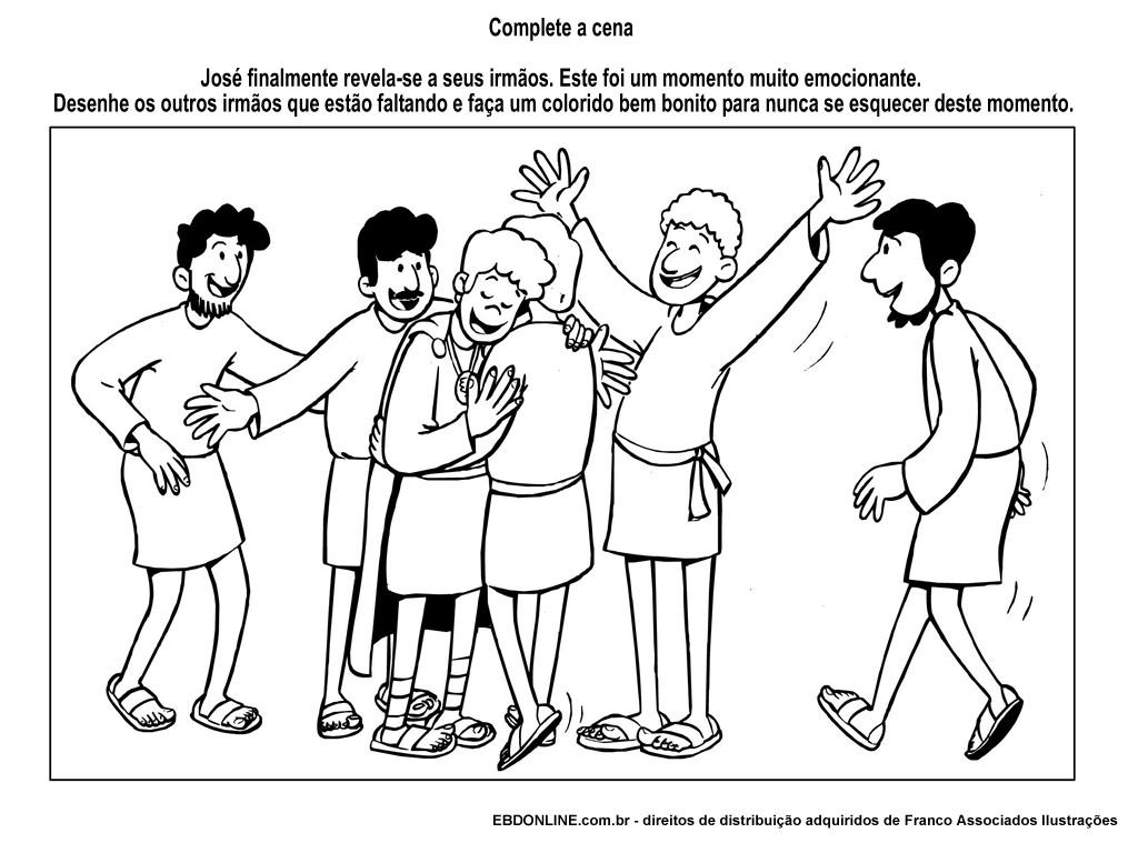 ausmalbilder josef und seine brüder